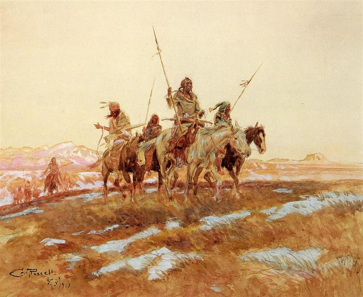 Piegan Hunting Party, 1913 - Charles M. Russell
