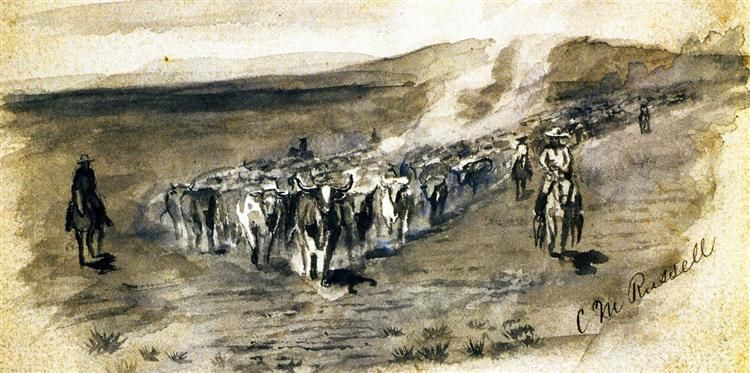 The Roundup, 1918 - Charles M. Russell
