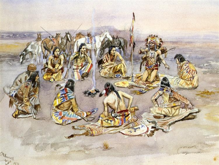 War Council, 1896 - Charles M. Russell