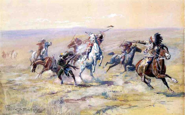 When Sioux and Blackfoot Meet, 1904 - Charles M. Russell