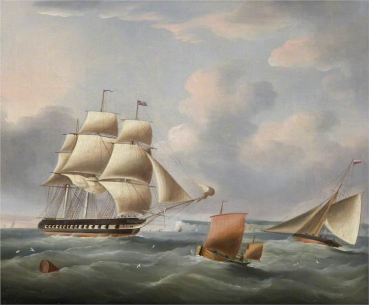 Shipping in the Downs - Charles Martin Powell