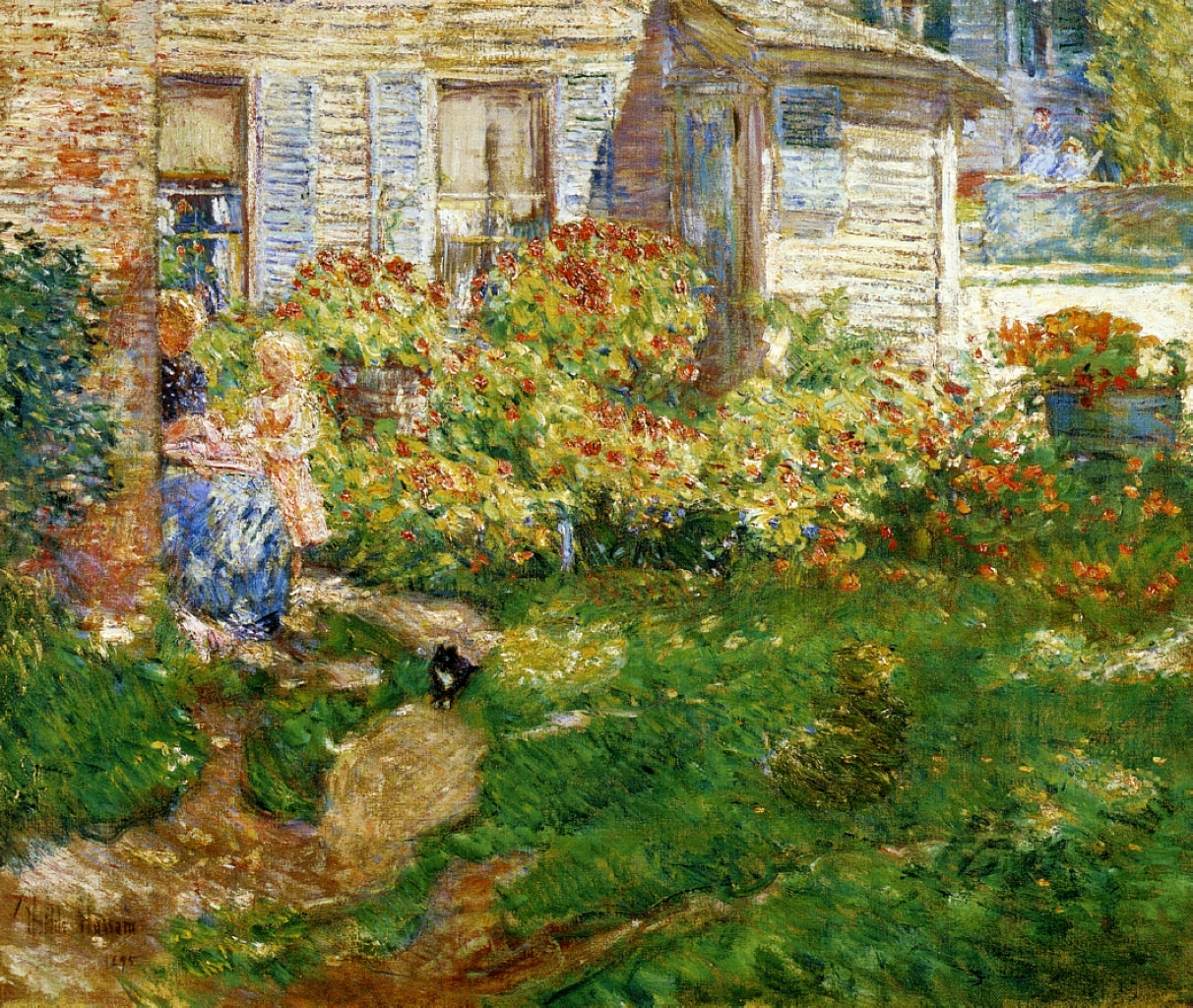 A fisherman 39 s cottage 1895 childe hassam - The fishermans cottage ...