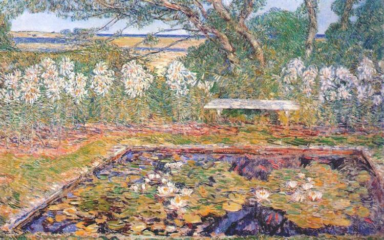 A long island garden, 1922 - 柴爾德.哈薩姆