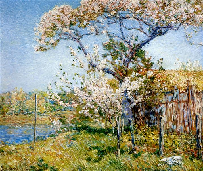 Apple Trees in Bloom, Old Lyme, 1904 - Childe Hassam