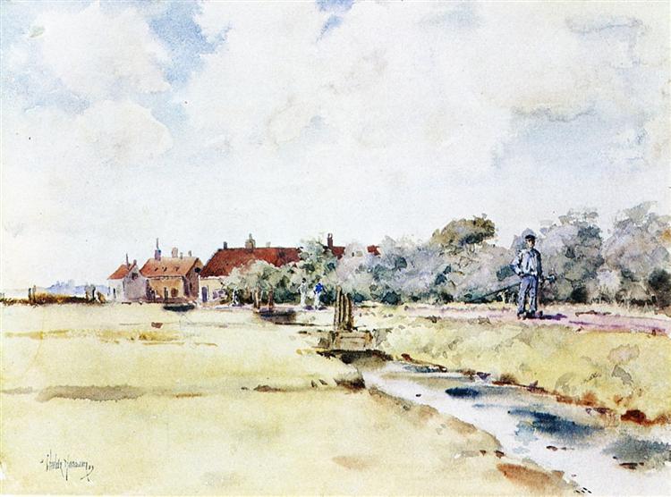 Canal Scene, 1883 - Childe Hassam