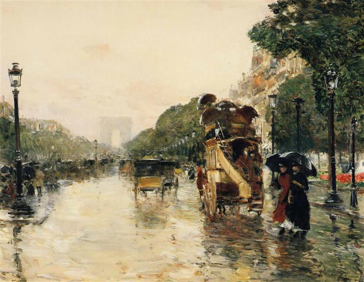 Champs elysees paris 1889 childe hassam - H m paris champs elysees ...