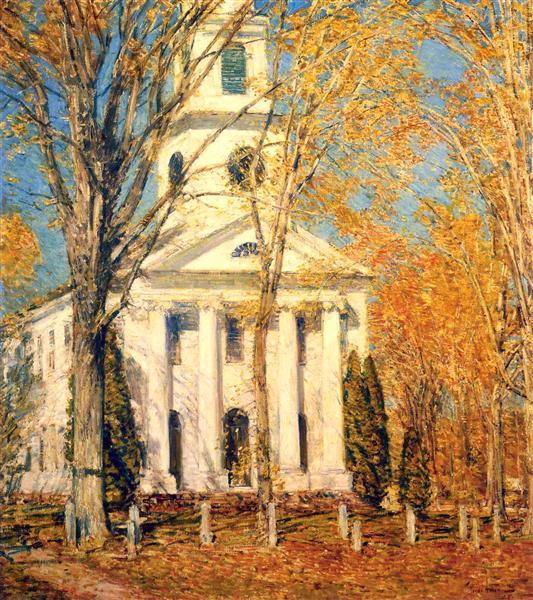 Church at Old Lyme, 1905 - Чайльд Гассам