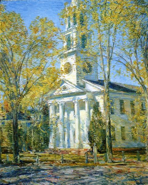 Church at Old Lyme, 1906 - Childe Hassam