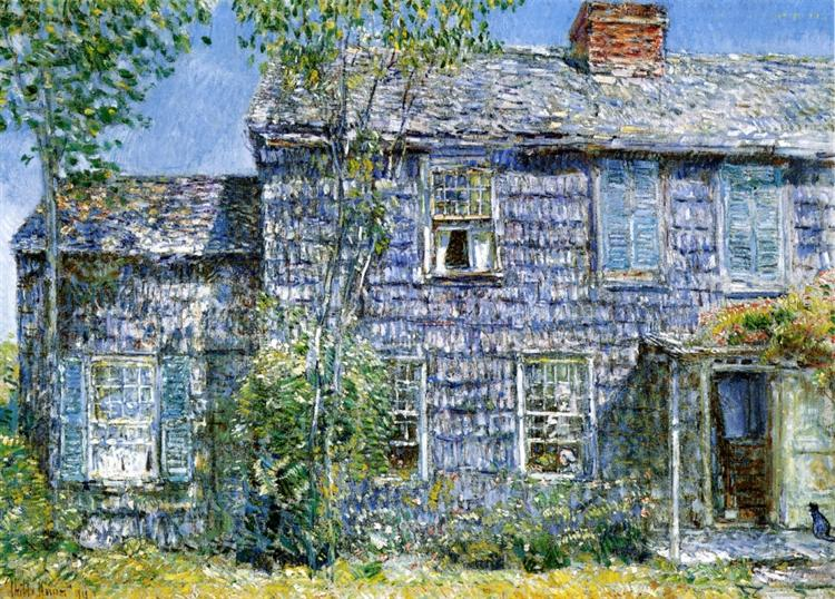 East Hampton, L.I. (aka Old Mumford House), 1919 - Childe Hassam