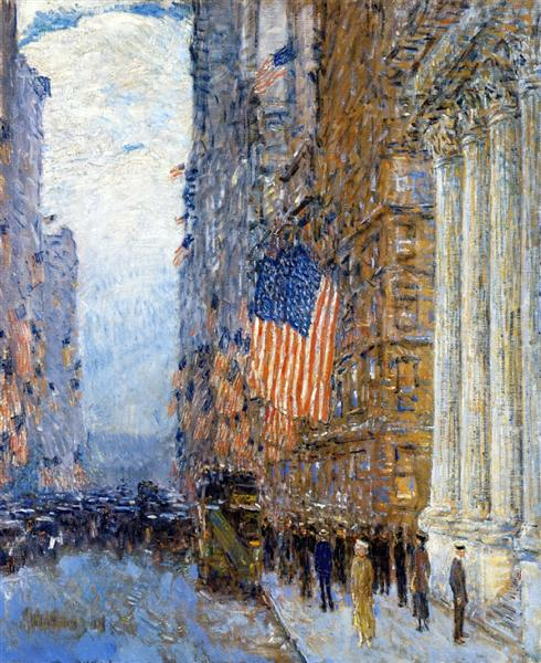 Flags on the Waldorf, 1916 - Childe Hassam