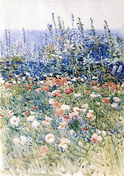 Flower Garden, Isles of Shoals, 1893 - Childe Hassam