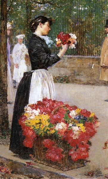 Flower Girl, 1888 - Childe Hassam