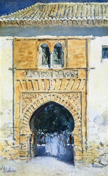 Gate of The Alhambra, 1883 - Childe Hassam