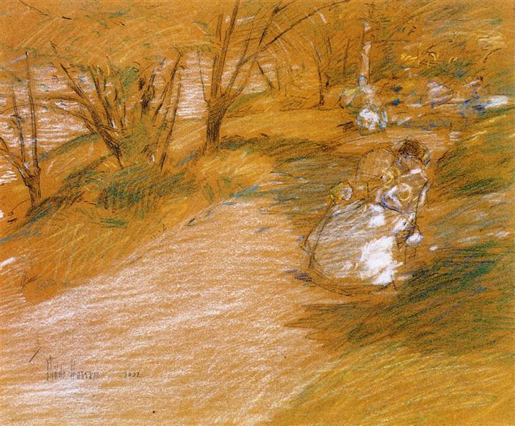 In the Park, 1902 - Childe Hassam