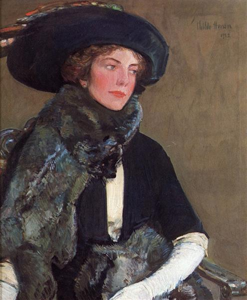 Lady in Furs (aka Mrs. Charles A. Searles), 1912 - Childe Hassam