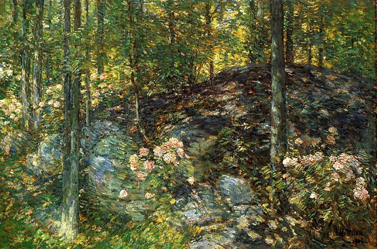 Laurel on the Ledges, 1906 - Childe Hassam