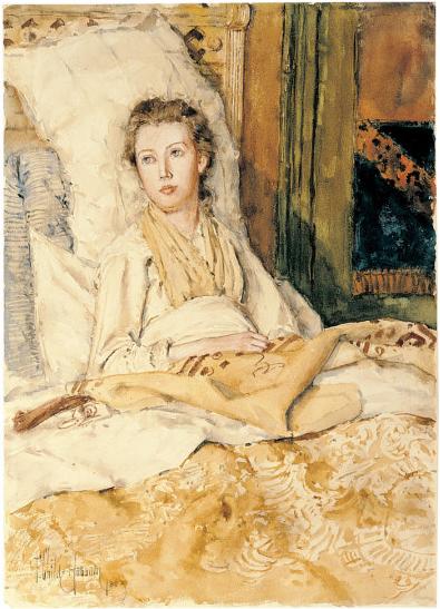 Maude Sewing, 1883 - Childe Hassam