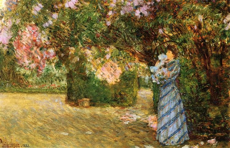 Mrs. Hassam at Villiers-le-Bel, 1888 - Childe Hassam