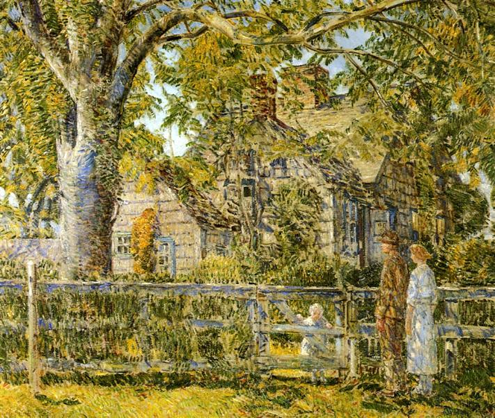 Old Mumford House, Easthampton, 1918 - Childe Hassam