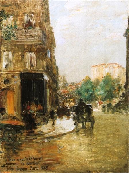 Paris Street Scene, 1889 - Childe Hassam