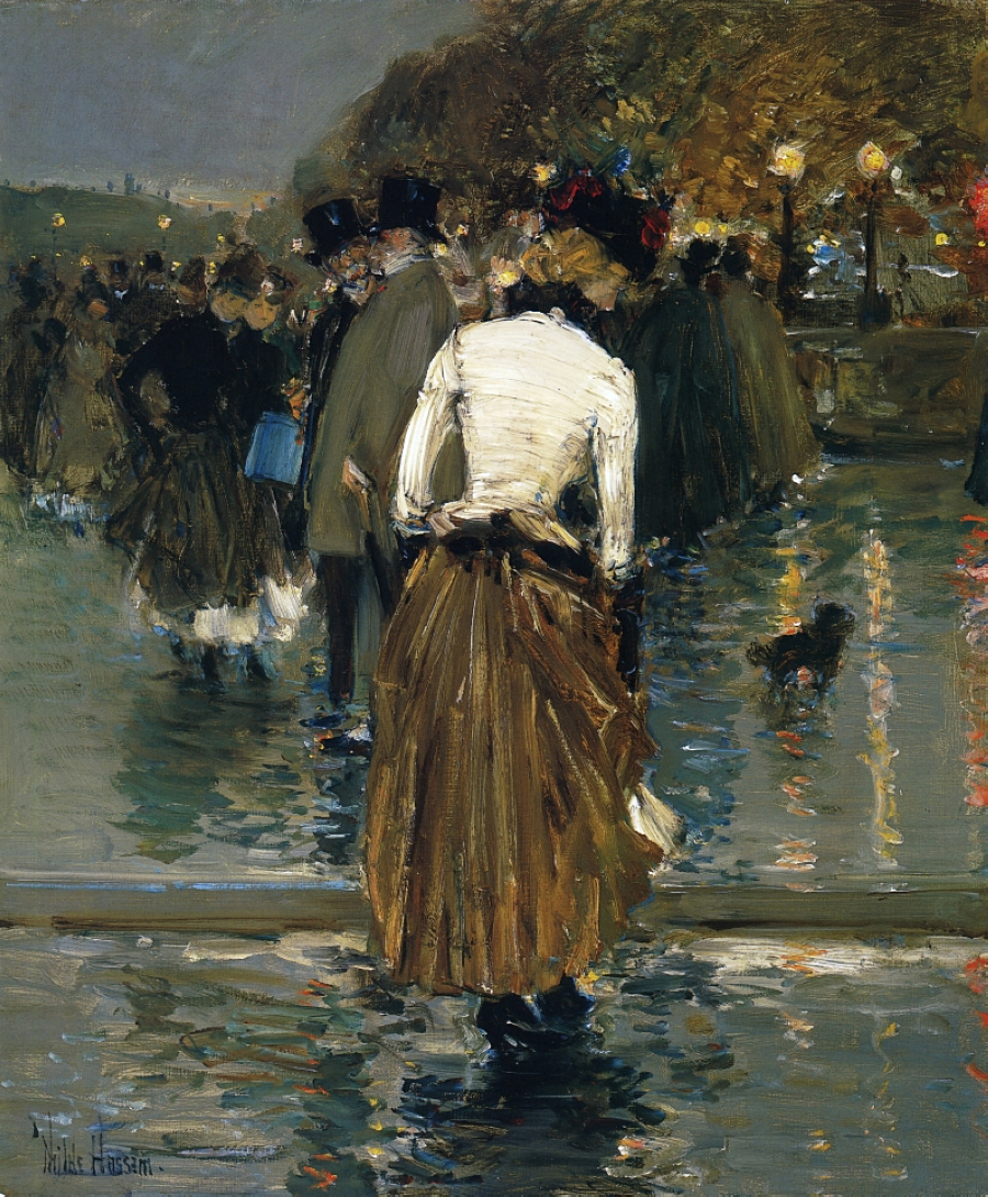 Impressionism Paris: Promenade At Sunset, Paris, 1888