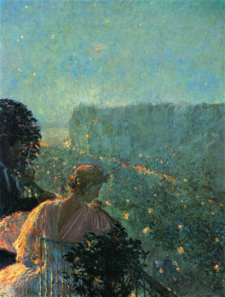 Summer Evening, Paris, 1889 - Childe Hassam