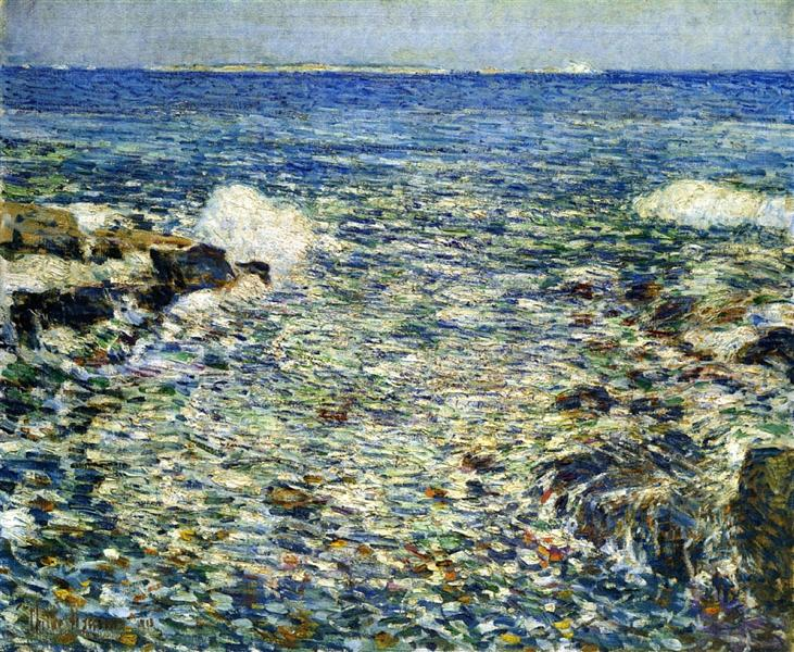 Surf, Isles of Shoals, 1913 - Чайльд Гассам