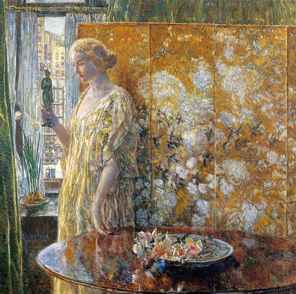 Tanagra - The Builders, New York, 1918 - Childe Hassam
