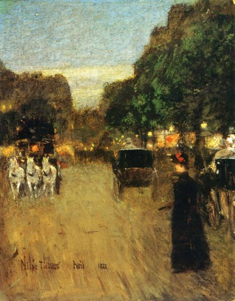 The Boid de Boulogne, 1888 - Childe Hassam