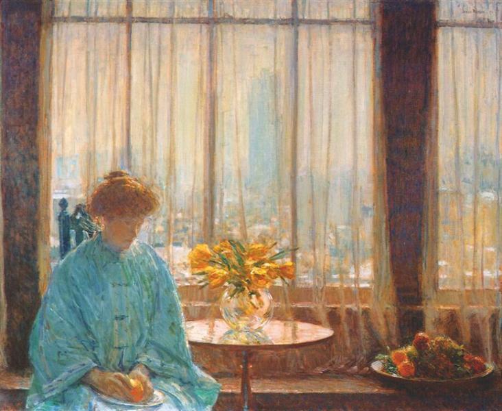 The Breakfast Room, Winter Morning, 1911 - Чайльд Гассам