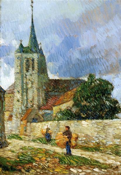 Village Scene, Breton, 1887 - Childe Hassam