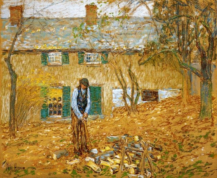 Woodchopper, 1902 - Childe Hassam