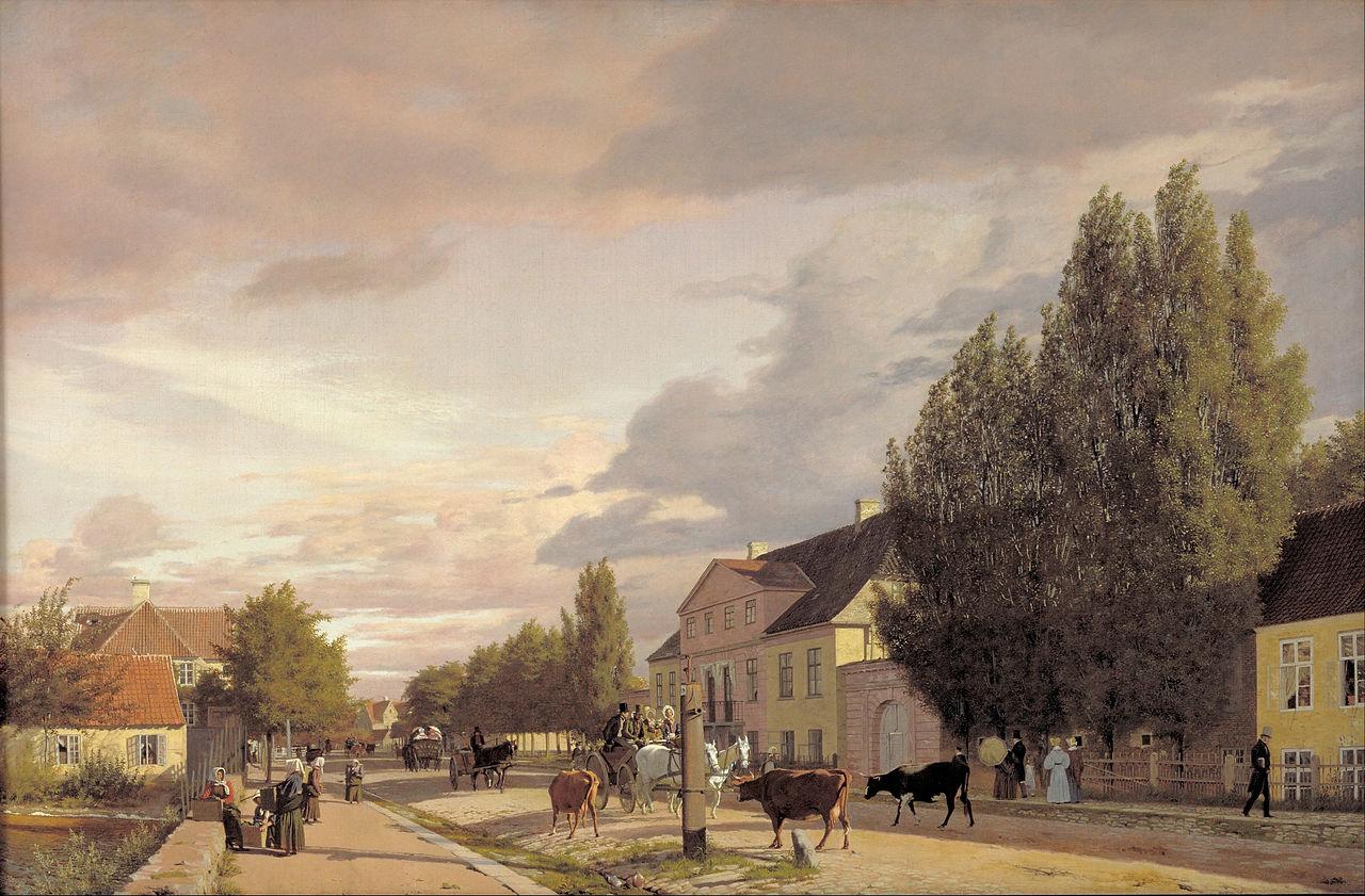 View of a Street in Østerbro outside Copenhagen. Morning Light, 1836 - Christen Kobke - WikiArt.org