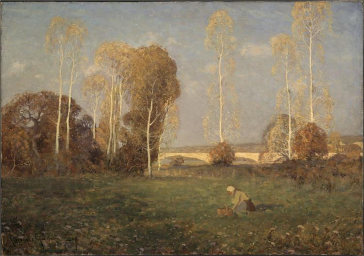 Autumn, Pont-de-l'Arche, 1905 - Кларенс Ганьон