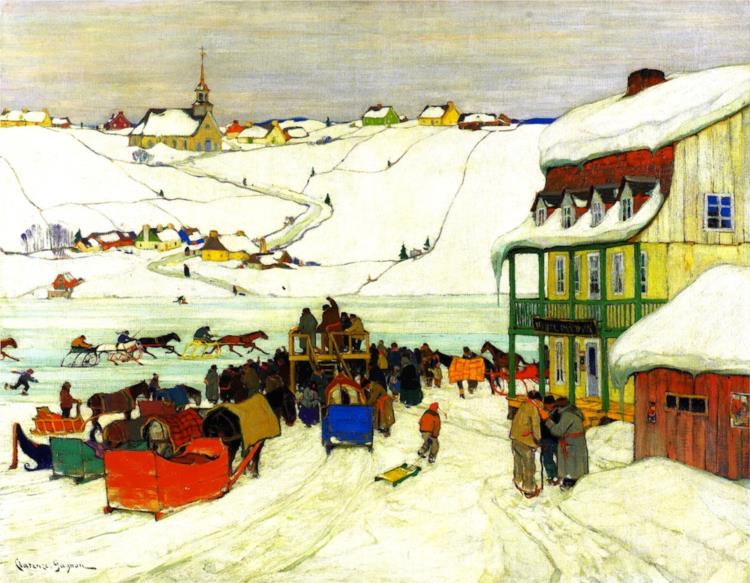 Horse Racing in Winter, 1927 - Clarence Gagnon