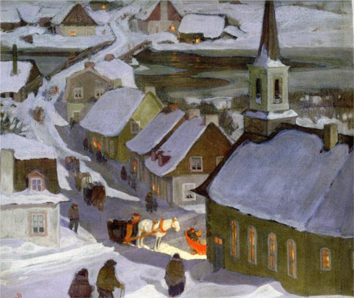 Midnight Mass, 1933 - Clarence Gagnon
