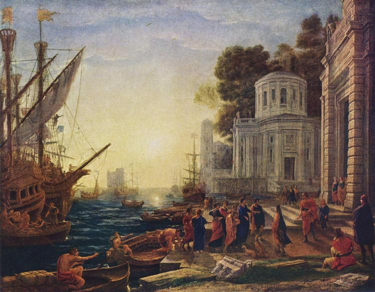 Cleopatra Disembarking at Tarsus, 1642 - Клод Лоррен