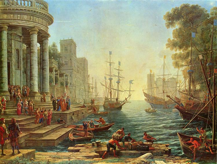 Seaport with the Embarkation of St. Ursula, 1641 - Клод Лоррен