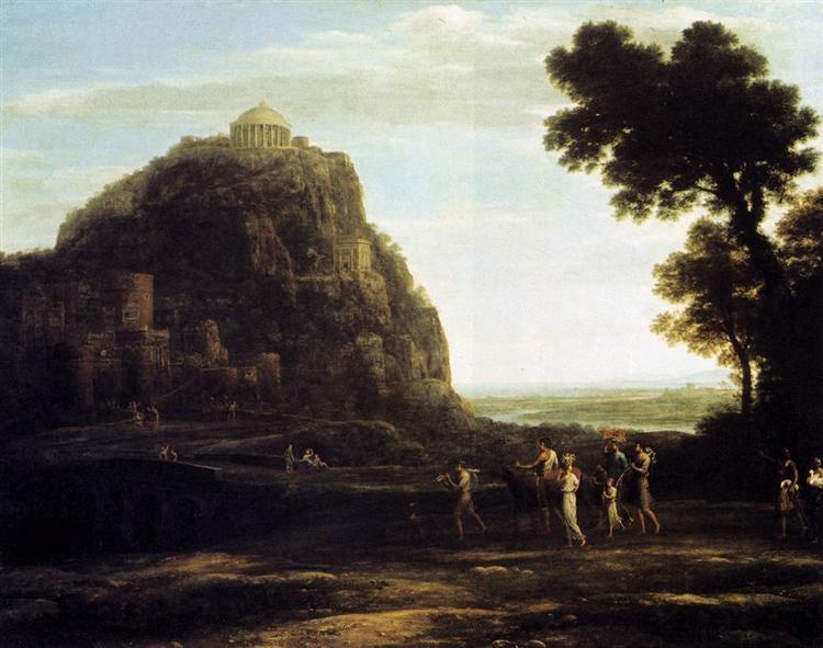 View of Delphi, 1672 - Клод Лоррен