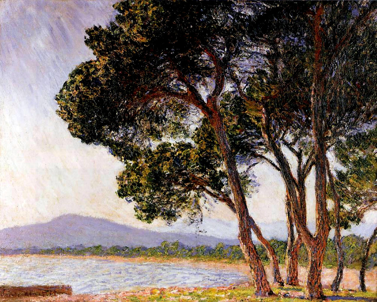 Обои Пейзаж, картина, Жуан-ле-Пен, Клод Моне. Разное foto 12