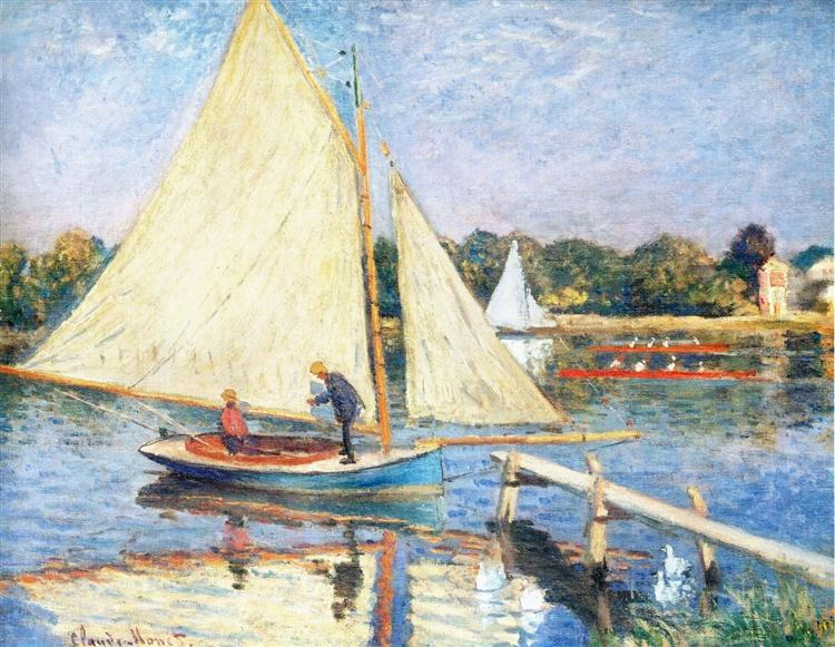 Boaters at Argenteuil, 1874 - Claude Monet