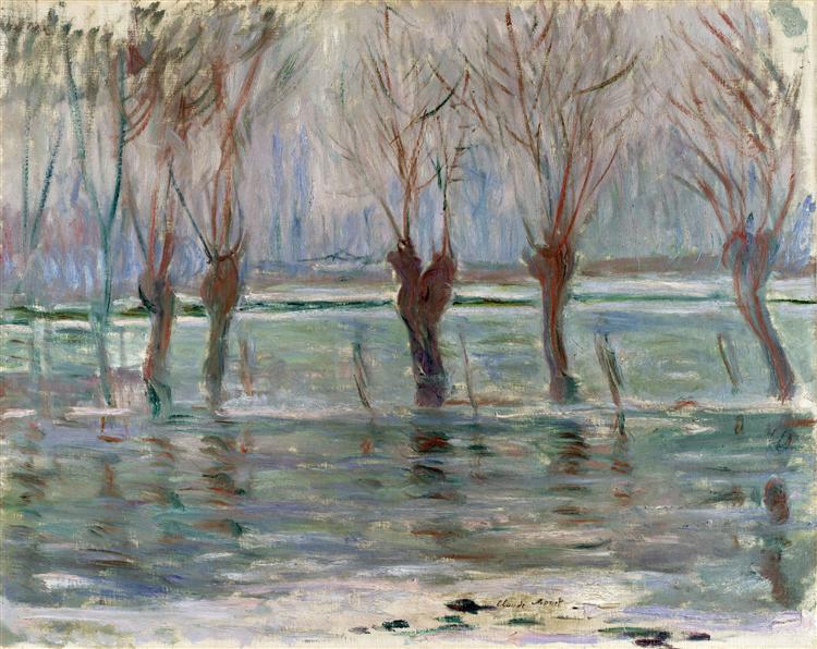 Flood Waters, 1896 - Claude Monet