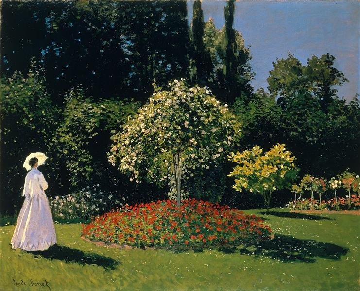 Jeanne-Marguerite Lecadre in the Garden, 1866 - Claude Monet