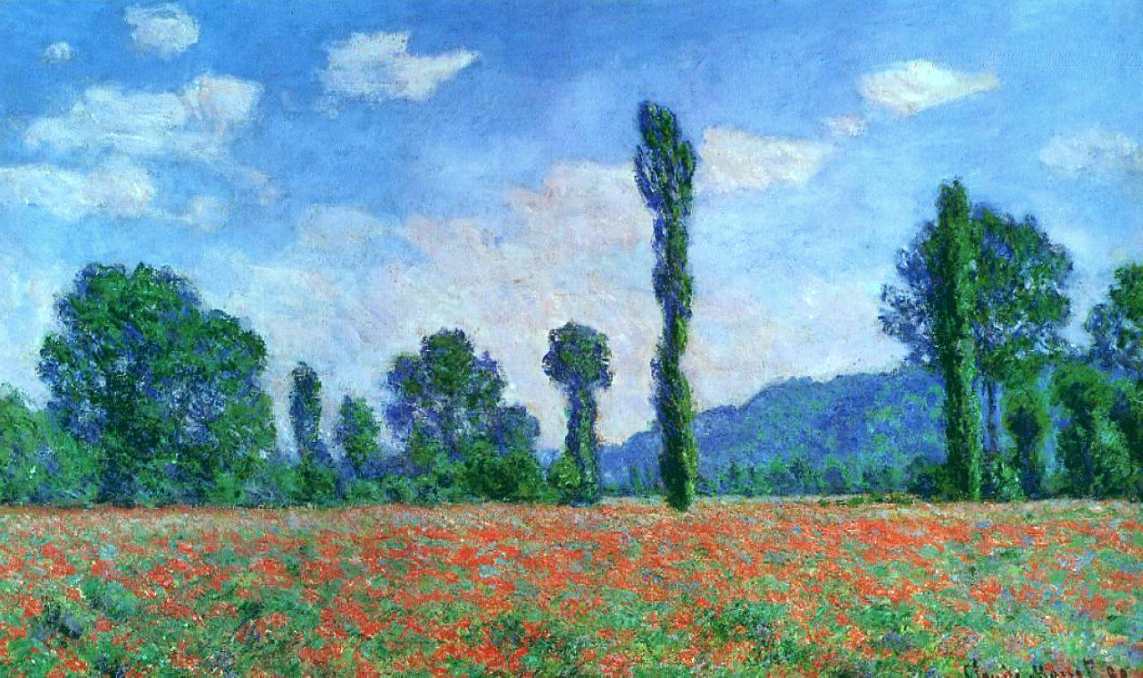 Poppy Field In Giverny 1890  Claude Monet WikiArtorg