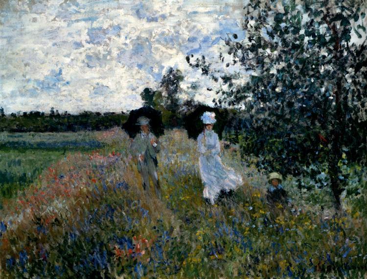 Promenade near Argenteuil, 1873 - Claude Monet