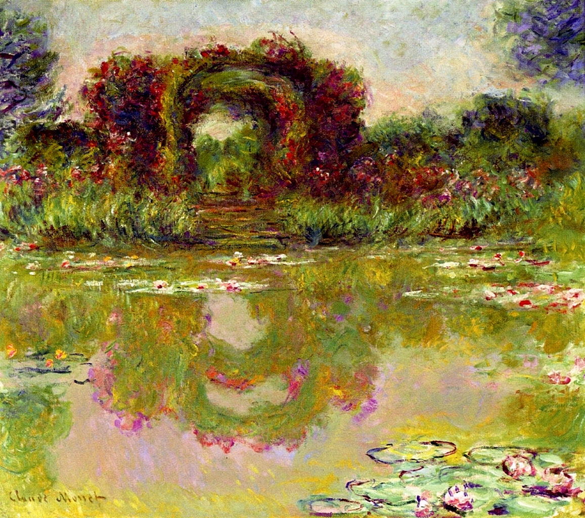 rose arches at giverny claude monet encyclopedia of visual arts. Black Bedroom Furniture Sets. Home Design Ideas