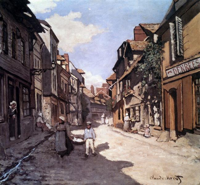 Street of the Bavolle Honfleur - Claude Monet