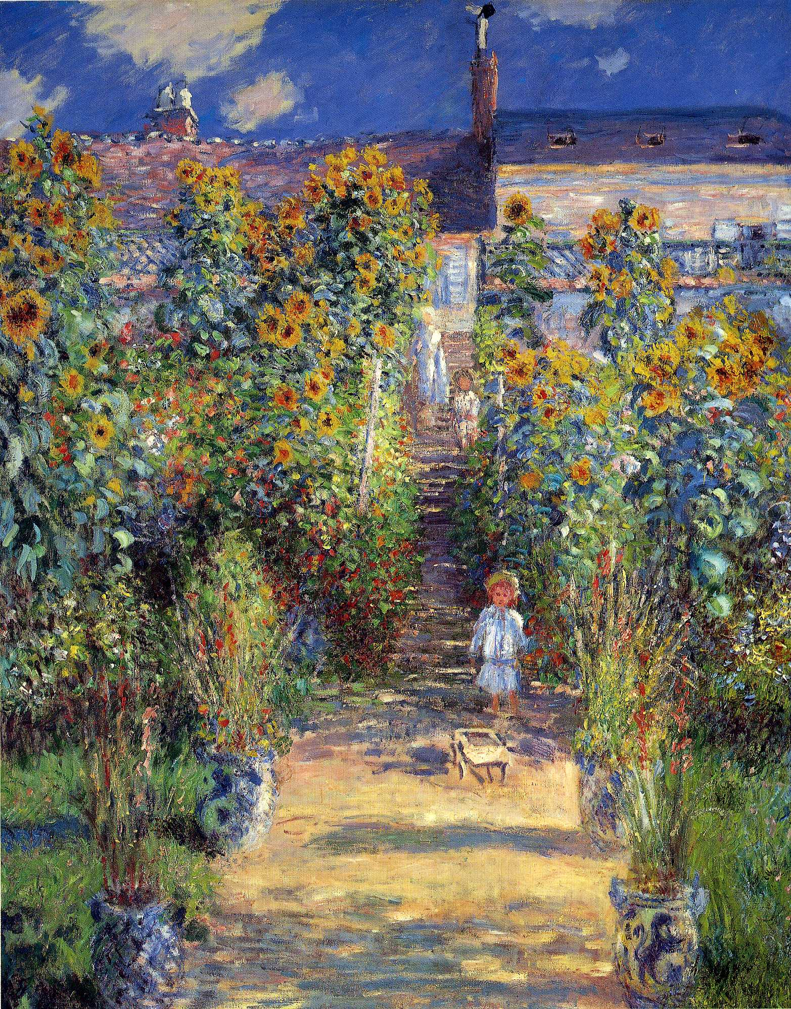 The Artistu0027s Garden At Vétheuil, 1880   Claude Monet