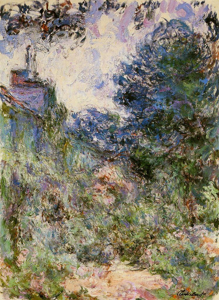 the house seen from the rose garden 1922 1924 claude monet. Black Bedroom Furniture Sets. Home Design Ideas