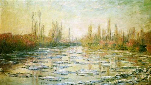 The Ice Floes - Claude Monet